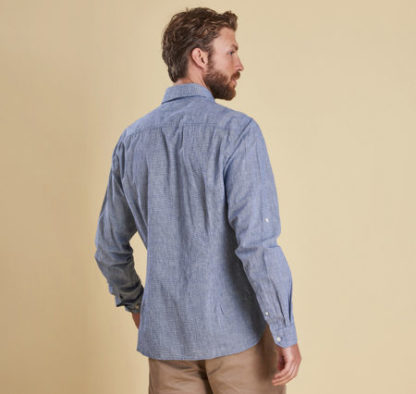 Heren Barbour Drift Shirt Navy