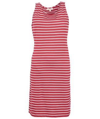 Dames Barbour Dalmore Dress Red/White stripes