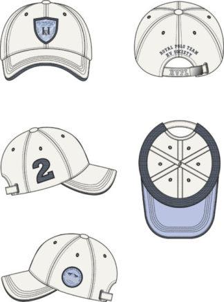 0408102903-OPTWIT-1 MAAT HVPOLO Baseballcap Rex Optical White Heren