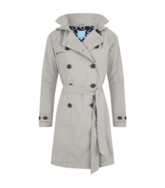 Dames trenchcoat Carey Grijs Happy Rainy Days