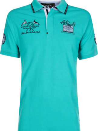 0403102902-AQUA-XXXL HVPOLO Poloshirt Freemont Aqua Heren