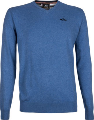 0401102908-BREMEL-XL HVPOLO Pullover Bailey Breeze Melange Heren