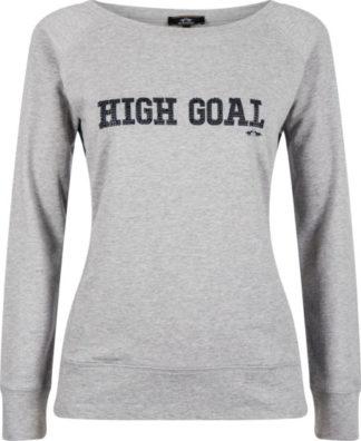 0401102936-GREME-L HVPOLO Sweater Lia Grey Melange Dames