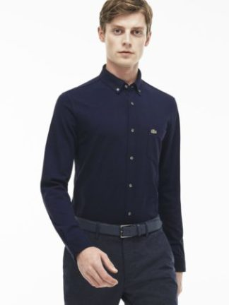 Blauw Lacoste overhemd