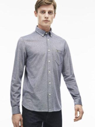 Grijs Lacoste overhemd