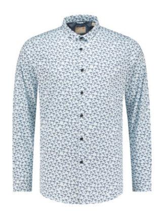 Dstrezzed Heren Shirt small collar Palm Dot Lt. Str. Poplin