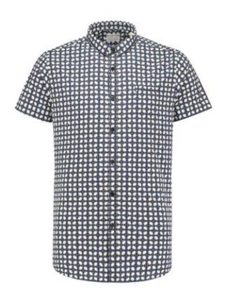 Dstrezzed Heren Shirt s/s small BD Geometric Lt. Str. Poplin