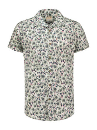 Dstrezzed Heren Shirt s/s hawaii Caktus Lt. Str. Poplin