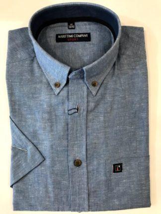 Uni linnen overhemd korte mouw Marittimi Company