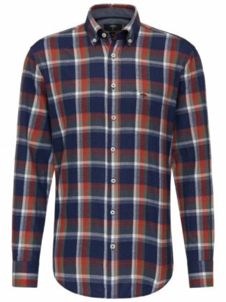 Fynch Hatton Flannel overhemd Fond Check