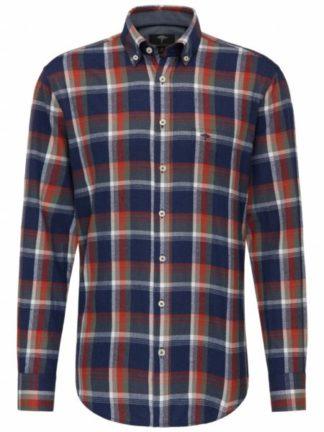 Fynch Hatton Flannel overhemd Fond Check