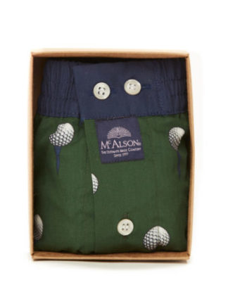 McAlson boxer m3843 groen met golfbal