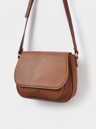 Joules dames Pu leather Saddle Bag TAN