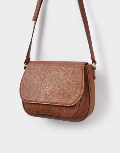 Joules dames Pu leather Saddle Bag TAN