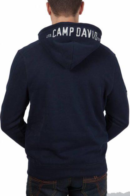 Camp David sweatshirt with hood Arctic Surf II
