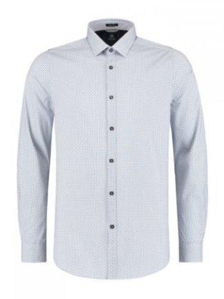 Shirt Cross Check jaquardKobalt WhiteDstrezzed