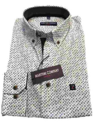 dessin wit marittimi overhemd