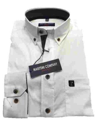 wit effen marittimi overhemd