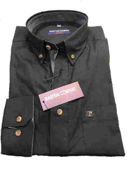 zwart effen marittimi overhemd