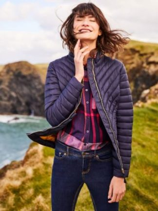 Joules dames Elodie Chevron Quilted Jack MARNAVY