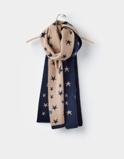 Joules dames Saffy Chenille Intarsia Scarf sjaal NAVSTAR