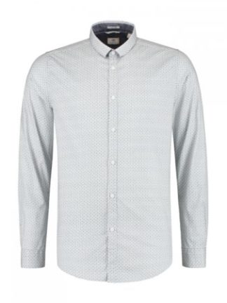 Dstrezzed Shirt small collar Minimal Dot Lt. Stretch Poplin