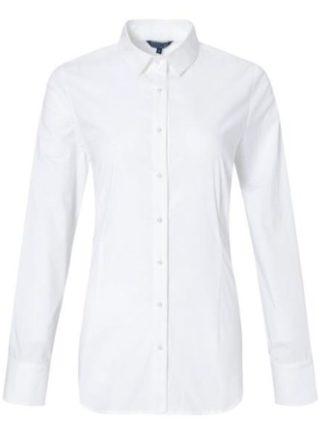 Bloomings dames witte blouse parel knopen