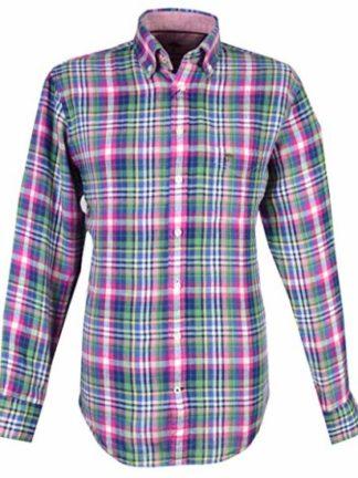 Fynch Hatton Heren The Linen Combi Shirt, B.D., 1/1