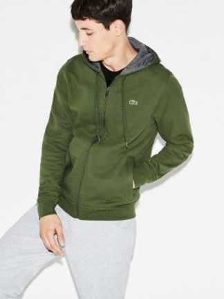 Lacoste Men s hooded sweatvest groen