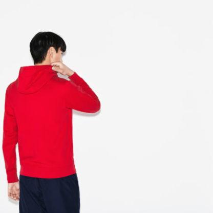 Lacoste Men s hooded sweatvest rood