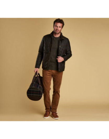 Barbour Netherley Wax jas Olive heren