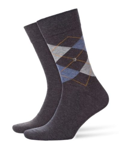 Burlington anthra.mel 2-pack Everyday Mix heren sokken