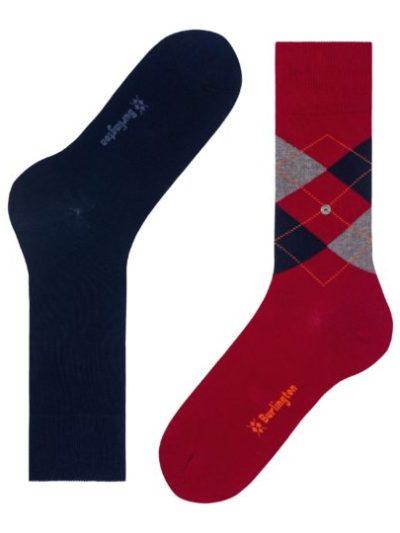 Burlington dark navy 2-pack Everyday Mix heren sokken