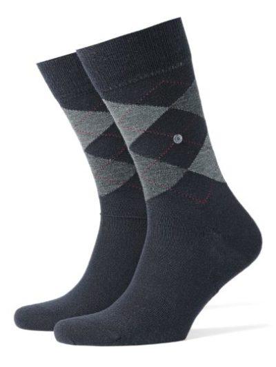 Burlington dark navy Edinburgh heren sokken