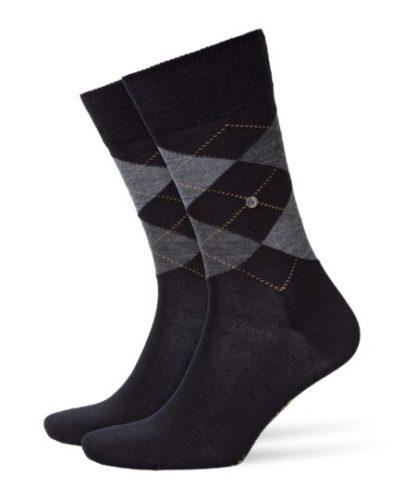 Burlington black Edinburgh heren sokken