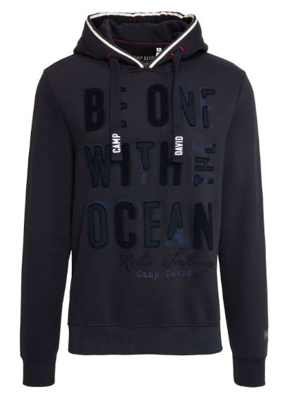Camp David sweatshirt with hood Retro Sailing