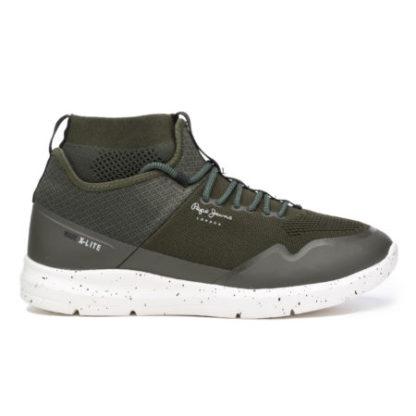 Pepe Jeans heren Sneaker schoen WADE KNITSOCK groen
