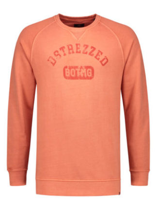 Dstrezzed Heren Crew Pigment Dyed Sweat Coral 211252