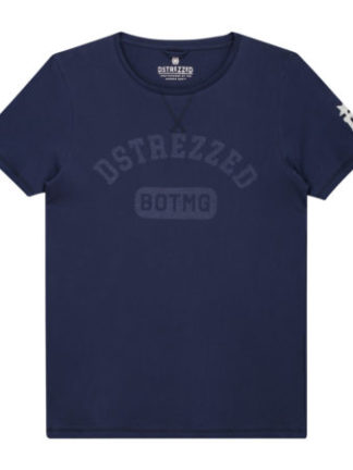 Dstrezzed Heren Logo T-shirt Navy 202404