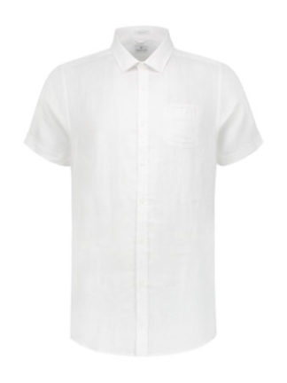 Dstrezzed Heren Regular Collar Linen White 311136