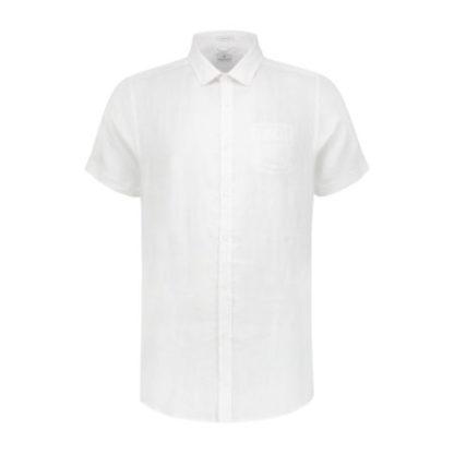 Dstrezzed Heren Regular Collar Linen White 311136