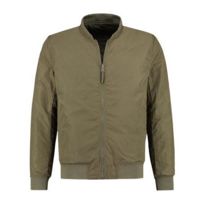 Dstrezzed Heren Reversible Bomber Jacket Melange Ripstop Army Green 101218