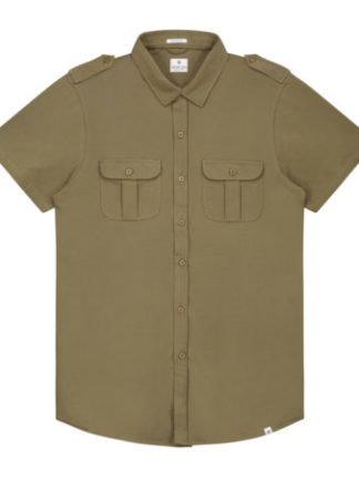 Dstrezzed Heren Shirt Stretch Army Green 311128