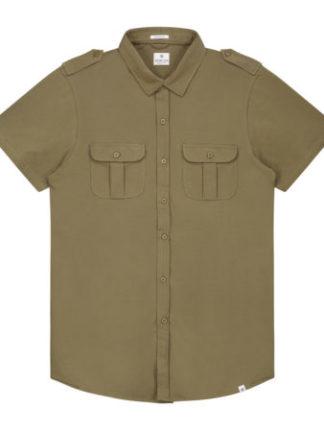 Dstrezzed Heren Shirt Stretch Army Green 311128