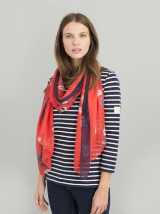 Joules Dames Sjaal Wensley 200118 REDFLORAL