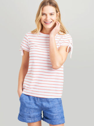 Joules Dames T-shirt Tiggy 200419 WHTREDSTR