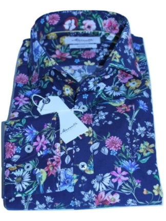 marnelli-overhemd-blauw-bloem