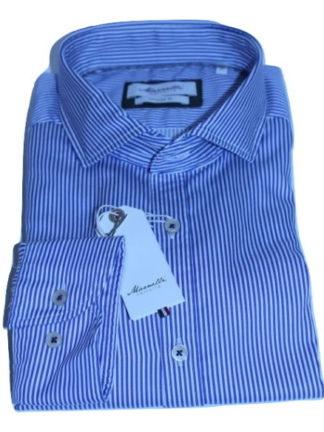 marnelli-overhemd-donkerblauw-gestreept-wit