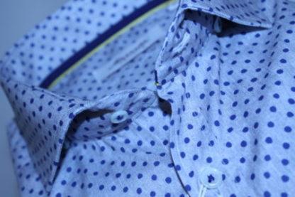 marnelli-overhemd-grijs-gestipt-detail