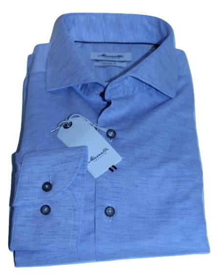Lichtblauw Overhemd.Marnelli Sartoria Lichtblauw Overhemd Connor Hbd